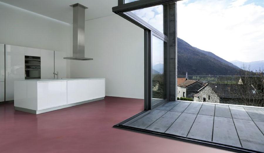 Modello di pavimento per cucina moderna in cemento 09