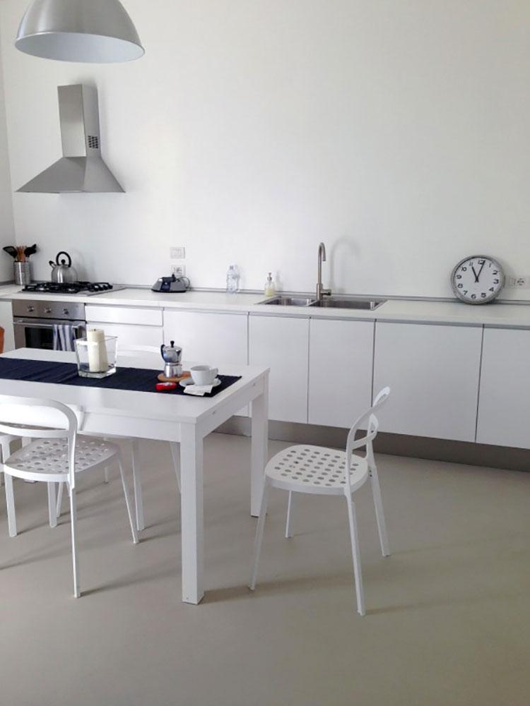 Modello di pavimento per cucina moderna in cemento 10