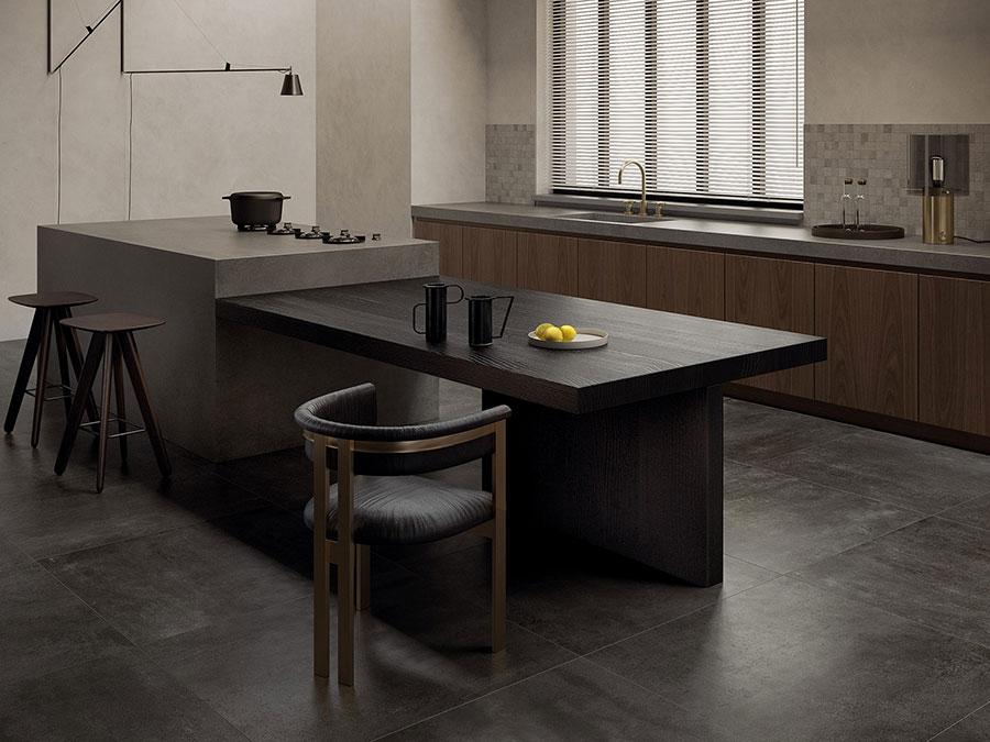 Pavimento per cucina moderna in gres porcellanato 04