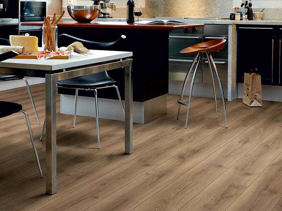 Modello di pavimento per cucina moderna in laminato 04