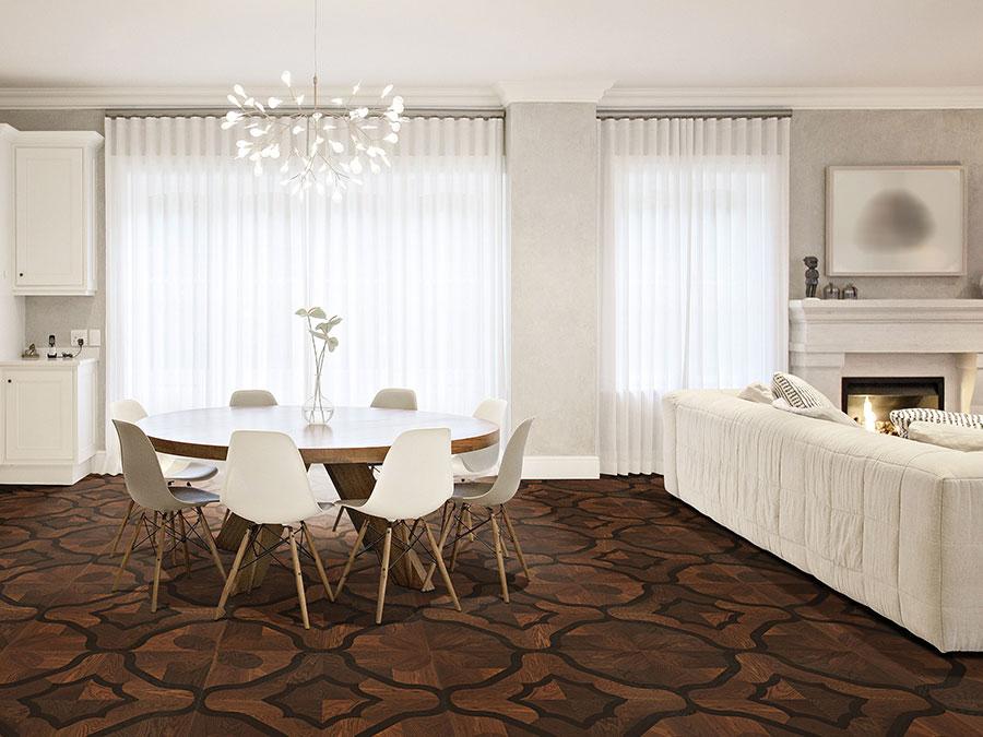 Modello di pavimento per cucina moderna in PVC 02