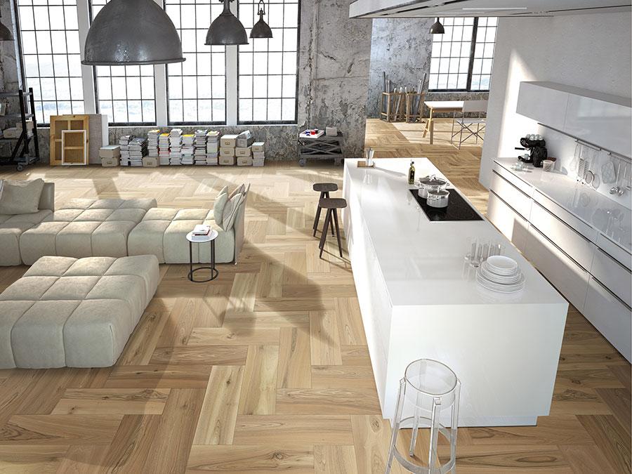 Modello di pavimento per cucina moderna in PVC 06