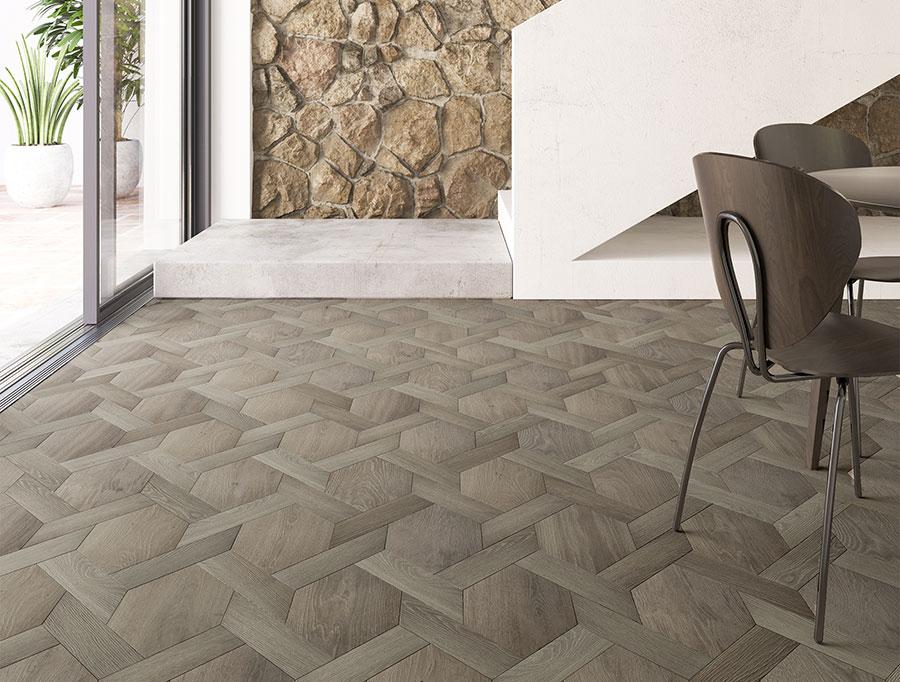 Modello di pavimento per cucina moderna in PVC 08