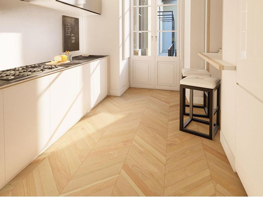Modello di pavimento per cucina moderna in PVC 10