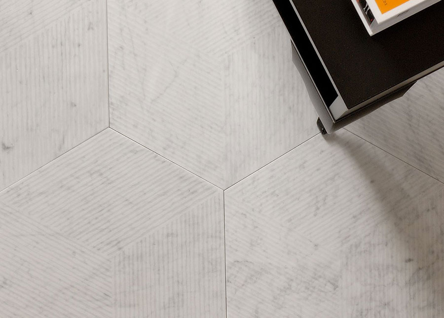 Modello di pavimento per cucina moderna in marmo 08