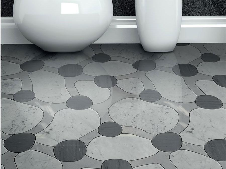 Modello di pavimento per cucina moderna in marmo 09