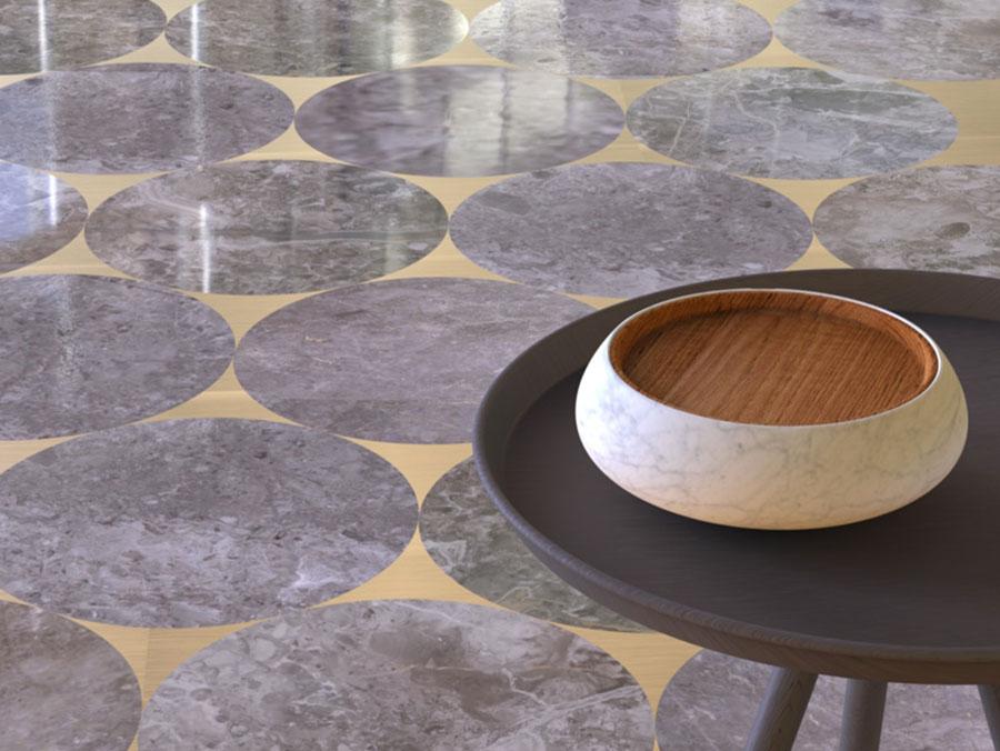 Modello di pavimento per cucina moderna in marmo 10