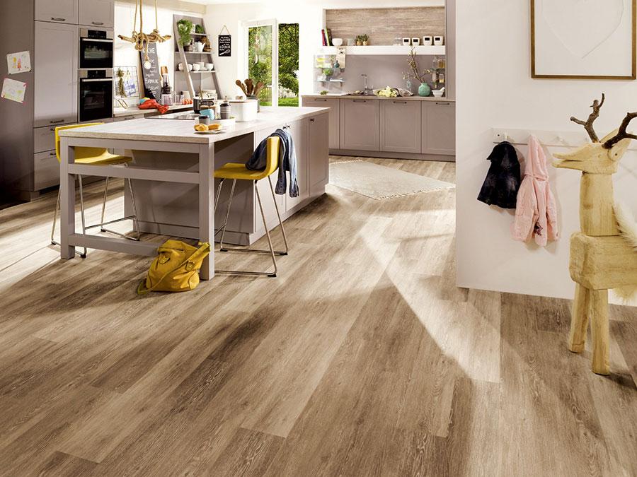 Modello di pavimento per cucina moderna in PVC 07