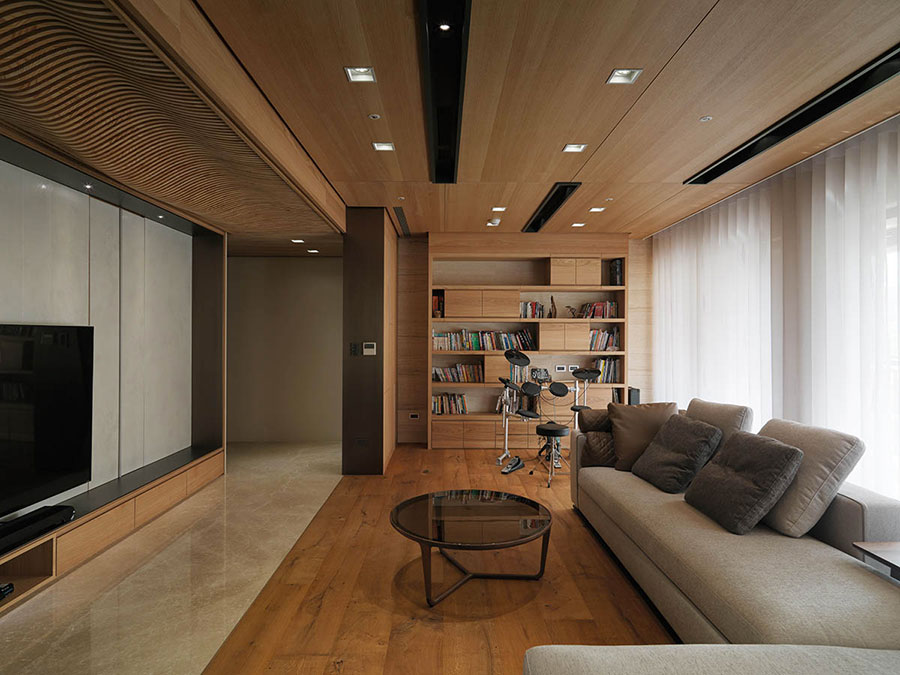 Idee per rivestimenti di pareti in legno n.02
