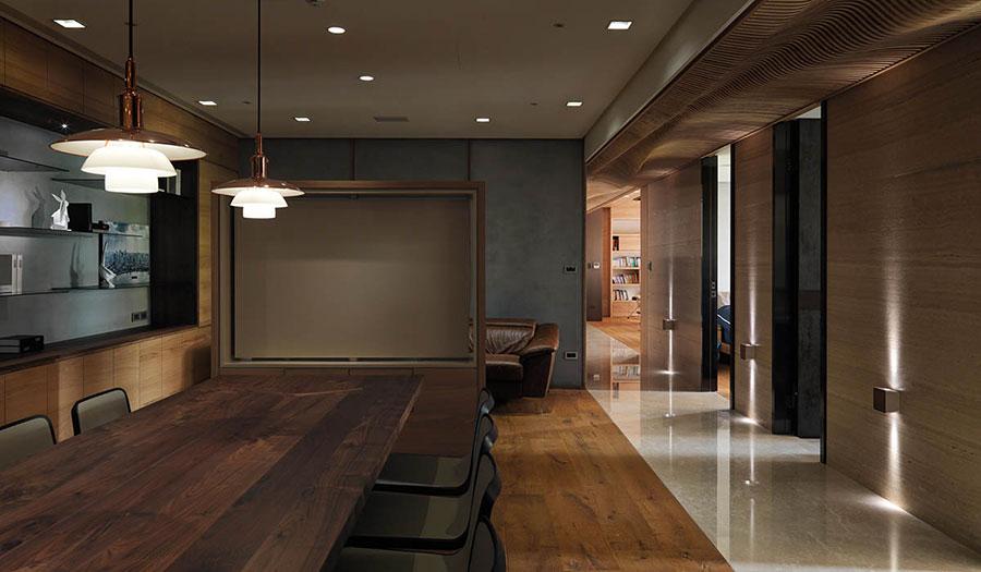 Idee per rivestimenti di pareti in legno n.03