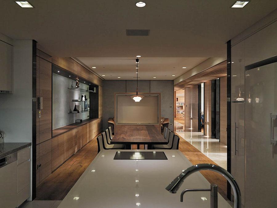 Idee per rivestimenti di pareti in legno n.04