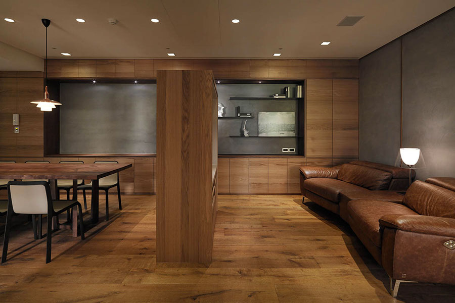 Idee per rivestimenti di pareti in legno n.05