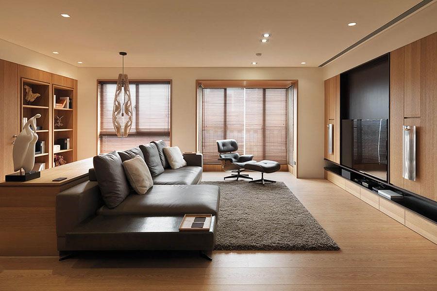 Idee per rivestimenti di pareti in legno n.06