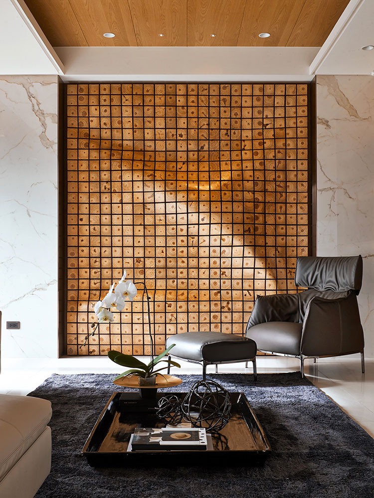 Idee per rivestimenti di pareti in legno n.13