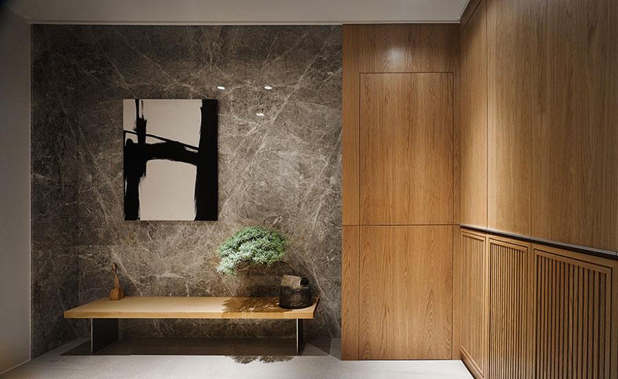 Idee per rivestimenti di pareti in legno n.14