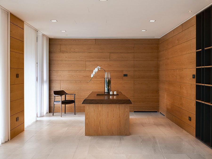 Idee per rivestimenti di pareti in legno n.16