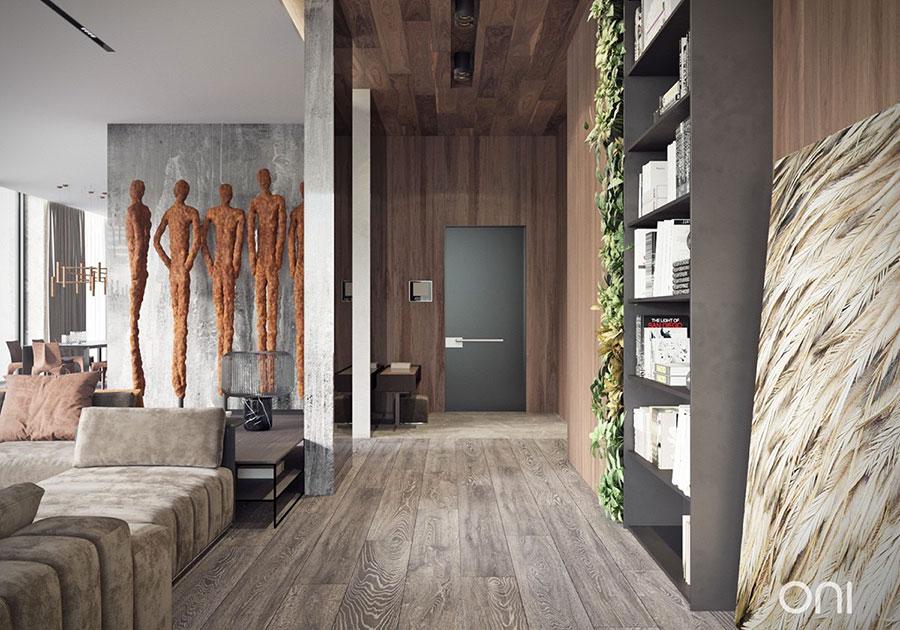 Idee per rivestimenti di pareti in legno n.23