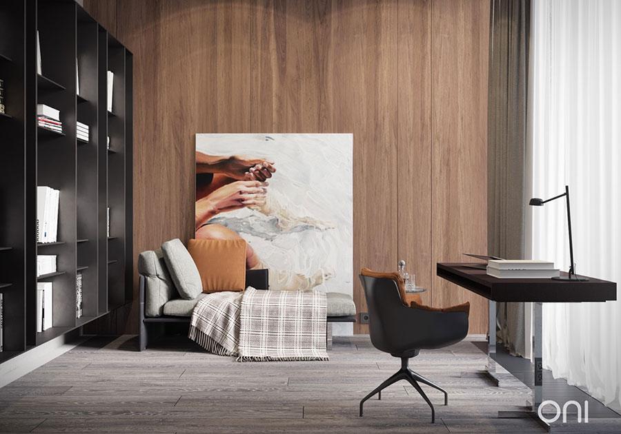 Idee per rivestimenti di pareti in legno n.24