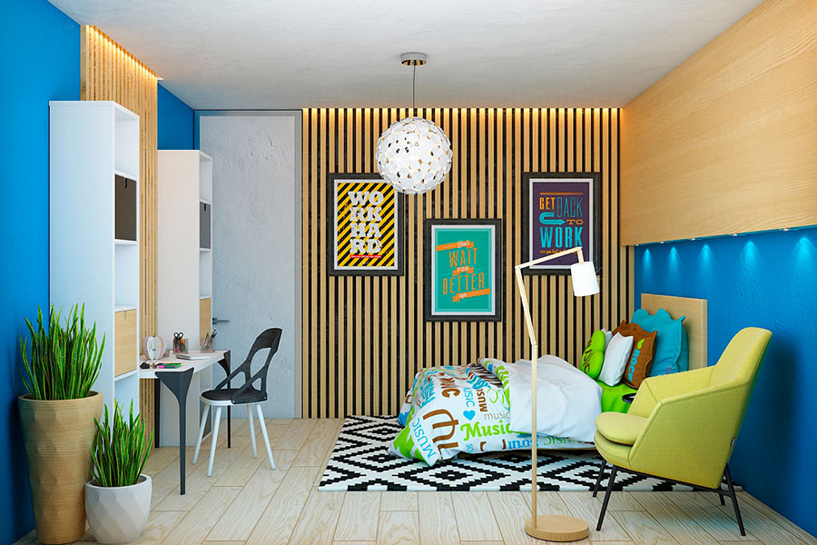 Idee per rivestimenti di pareti in legno n.28