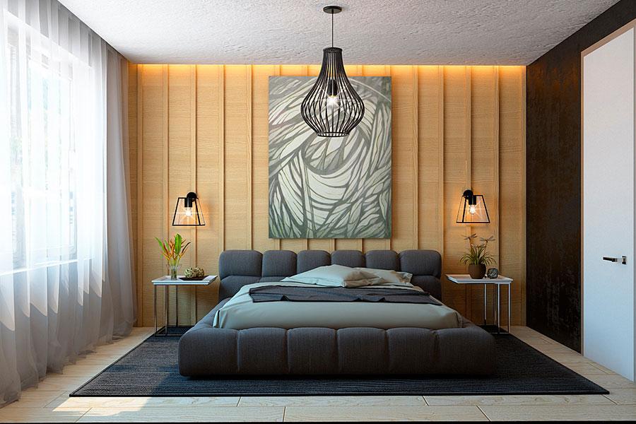 Idee per rivestimenti di pareti in legno n.29