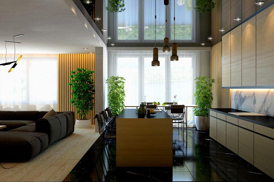Idee per rivestimenti di pareti in legno n.32
