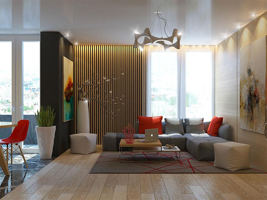 Idee per rivestimenti di pareti in legno n.33
