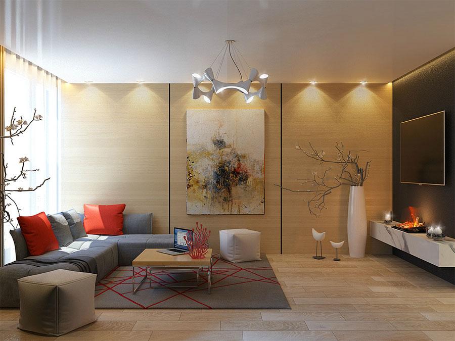 Idee per rivestimenti di pareti in legno n.34