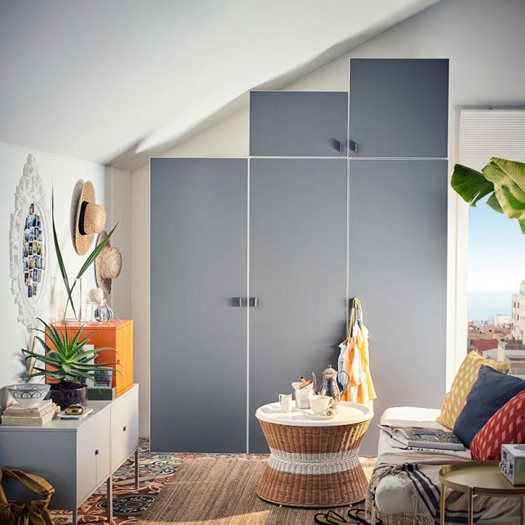 Idee per arredare il soggiorno in mansarda con Ikea n.02