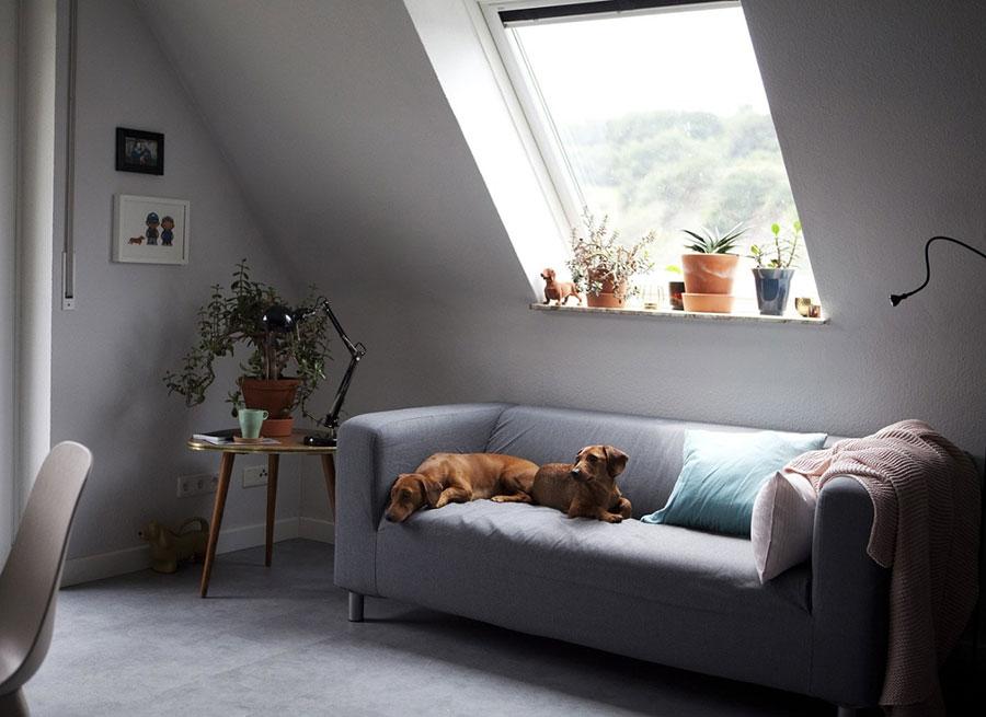 Idee per arredare il soggiorno in mansarda con Ikea n.03