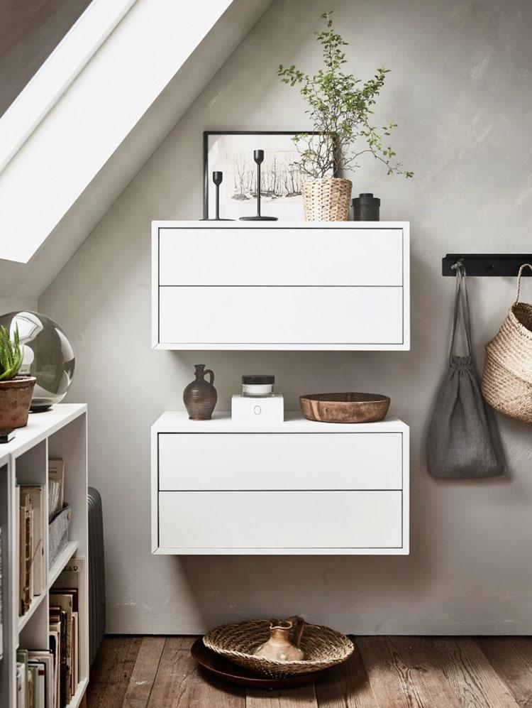 Idee per arredare il soggiorno in mansarda con Ikea n.06