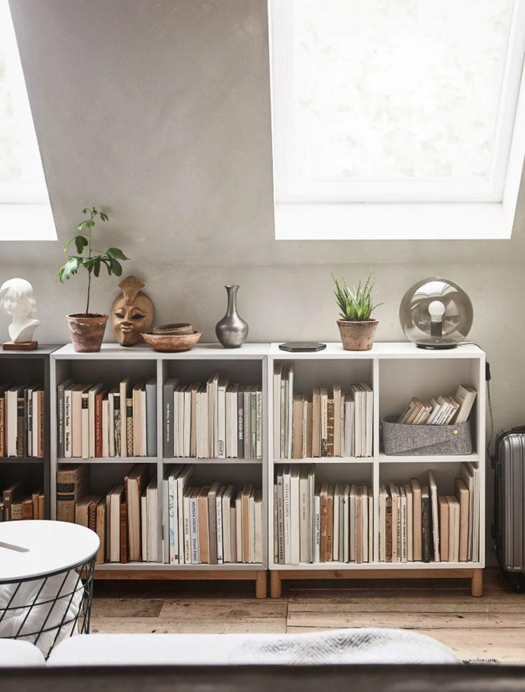 Idee per arredare il soggiorno in mansarda con Ikea n.07