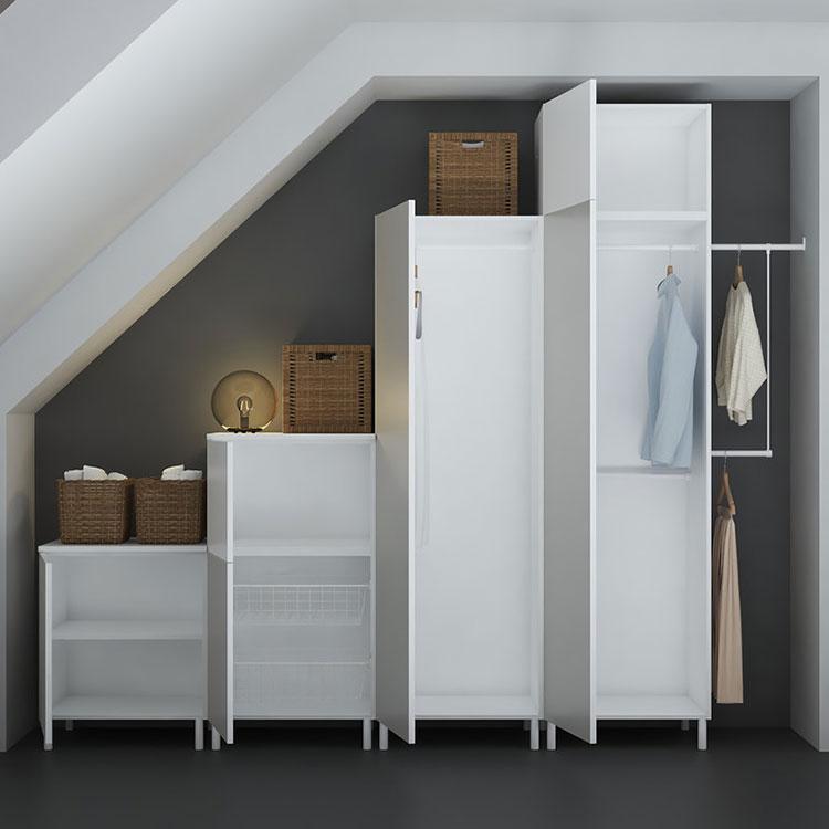 Idee per arredare il soggiorno in mansarda con Ikea n.09