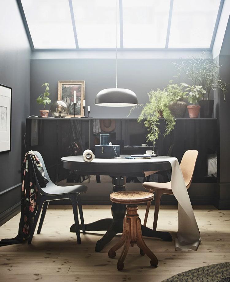Idee per arredare il soggiorno in mansarda con Ikea n.10