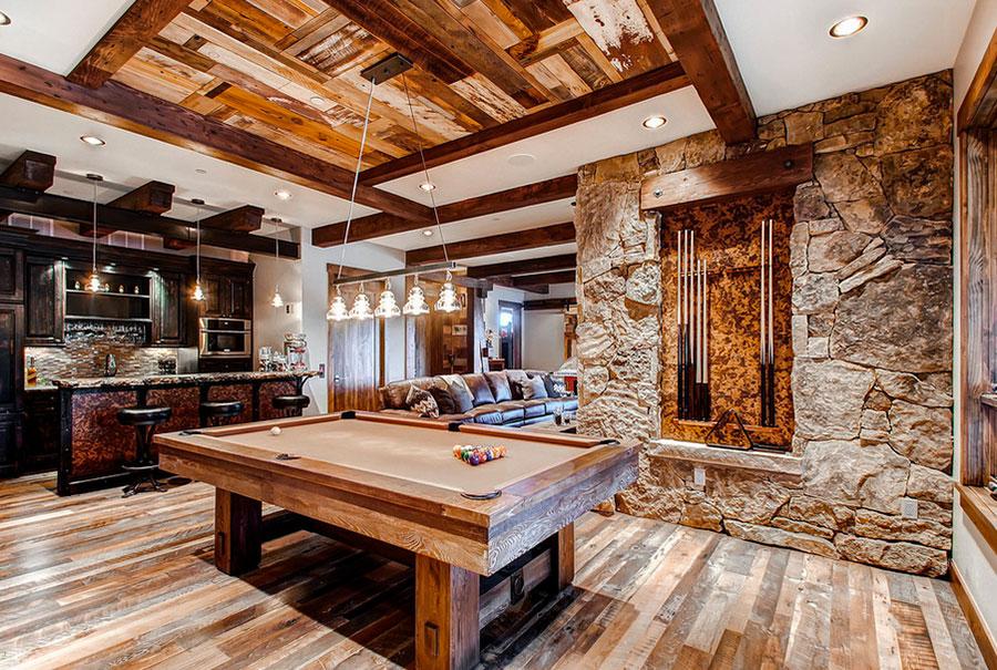 Idee per arredare una taverna rustica con sala giochi 2