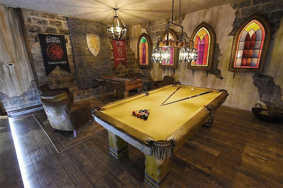 Idee per arredare una taverna rustica con sala giochi 3