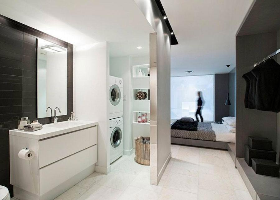 Idee per creare un bagno con lavanderia a colonna n.2