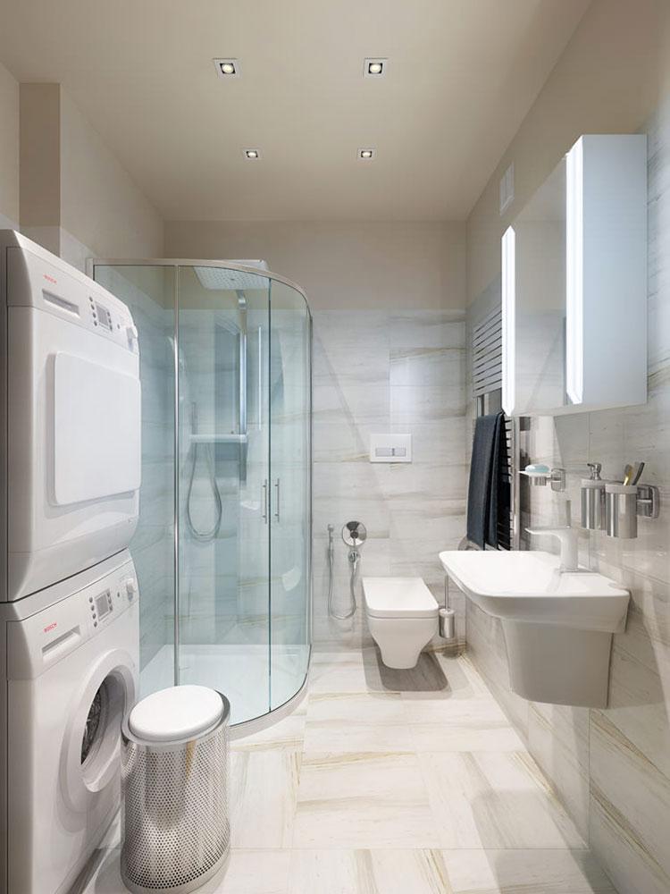 Idee per creare un bagno con lavanderia a colonna n.3