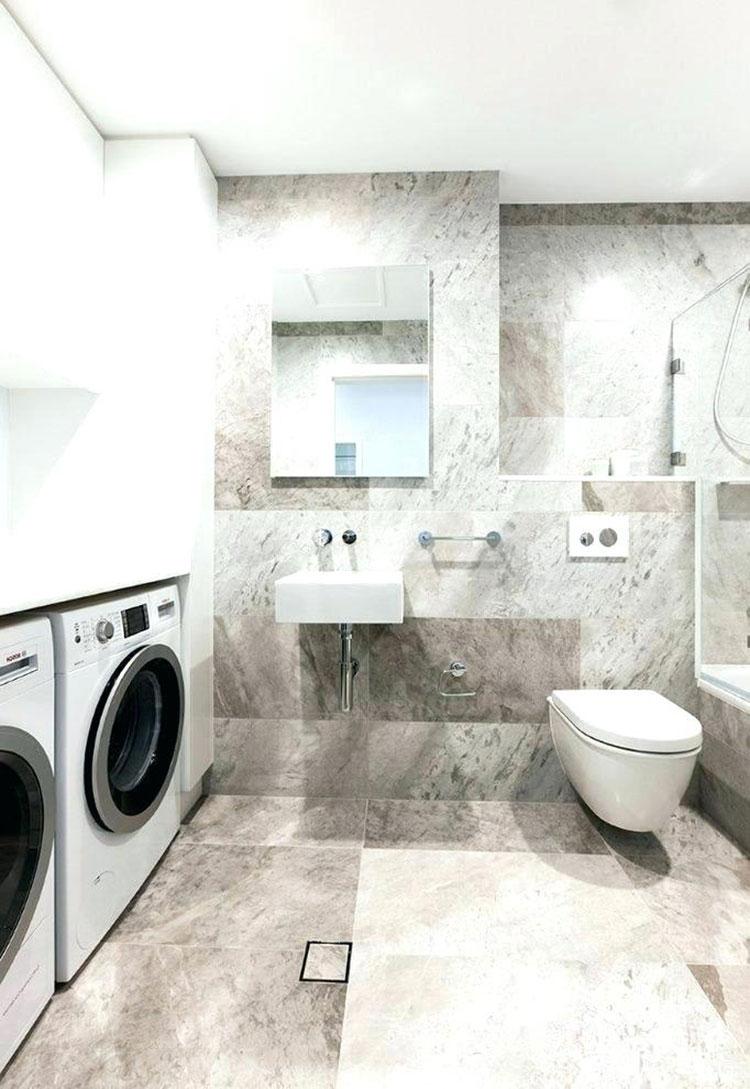 Idee per creare un bagno con lavanderia incassata n.5