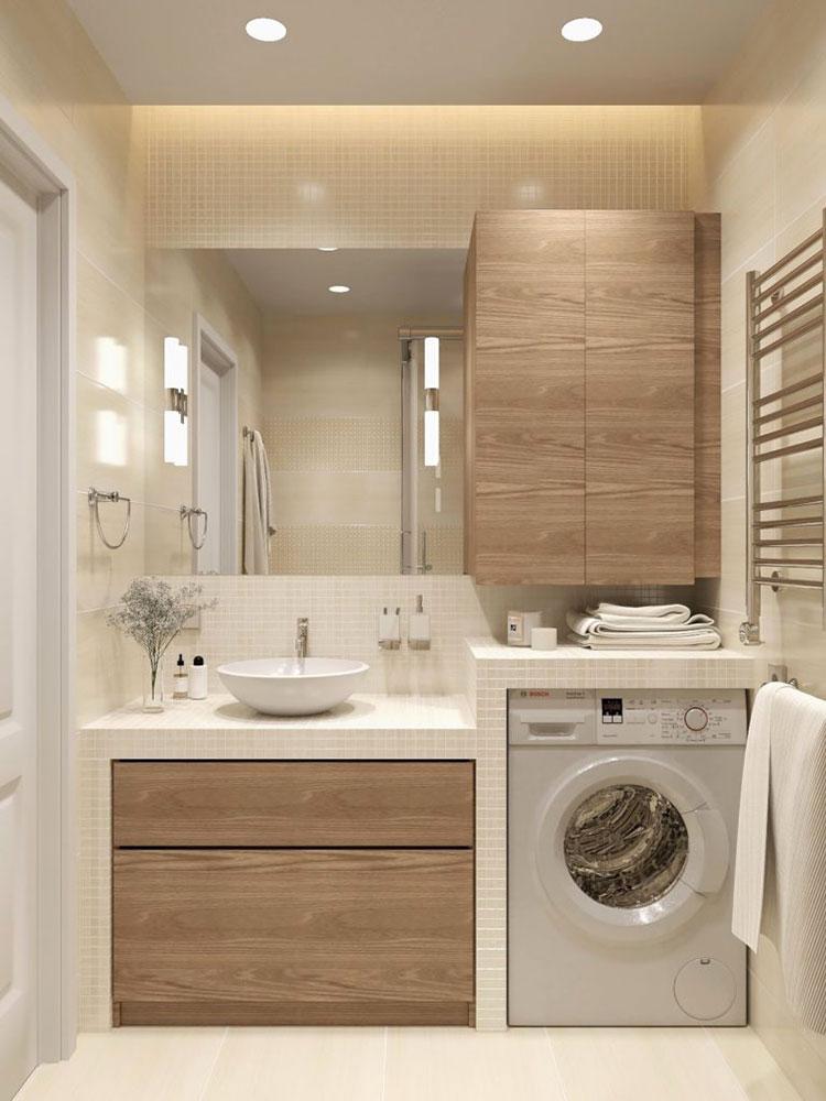 Idee per creare un bagno con lavanderia incassata n.8