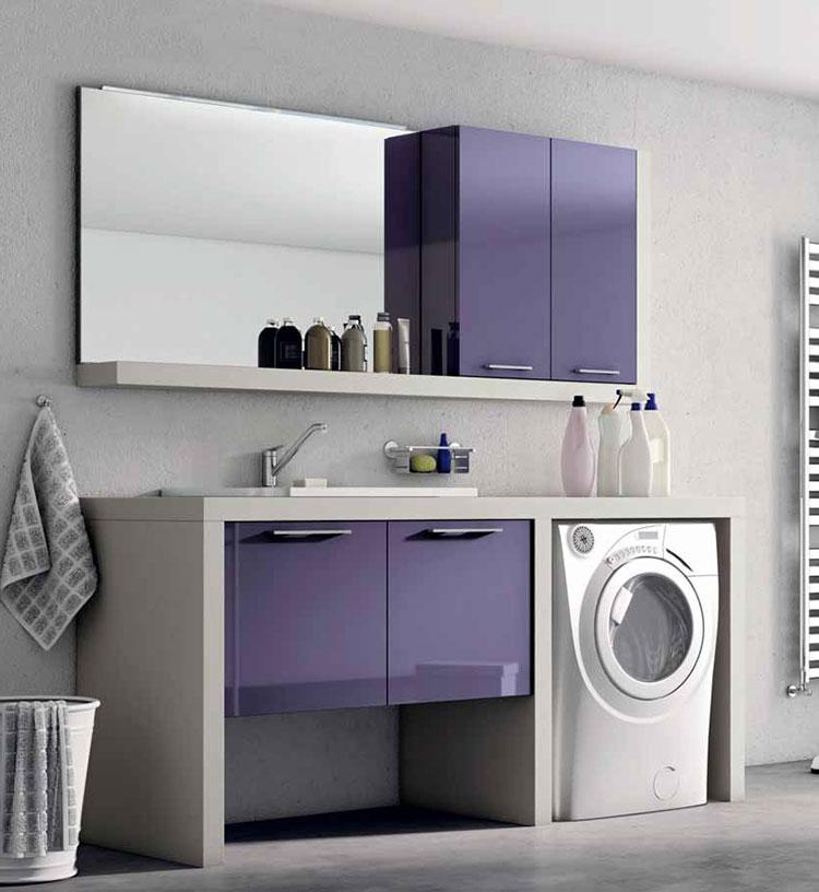 Idee per creare un bagno con lavanderia incassata n.9