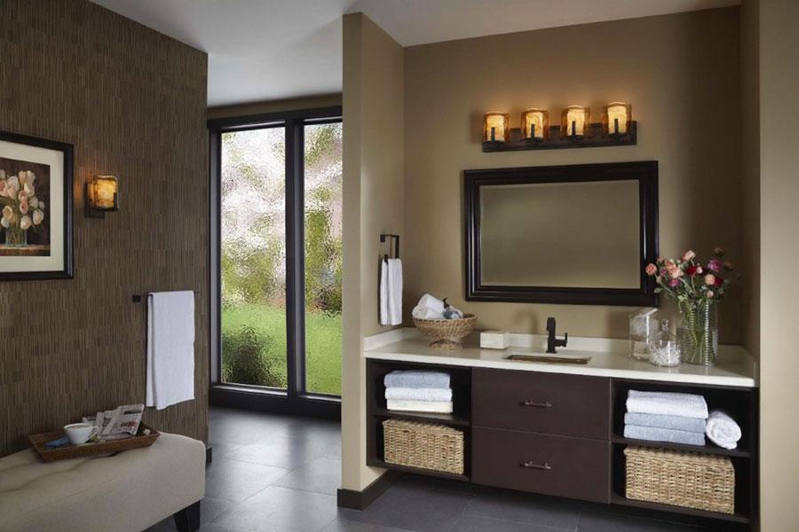 Idee bagno marrone classico 05