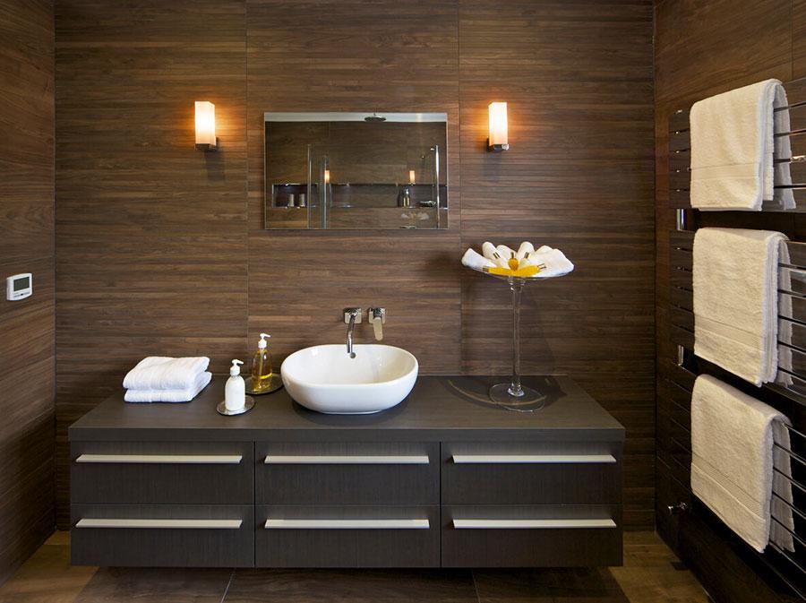 Idee bagno marrone moderno 01