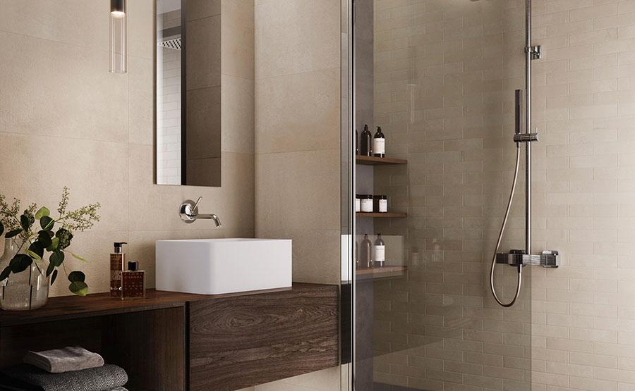 Idee bagno marrone moderno 02