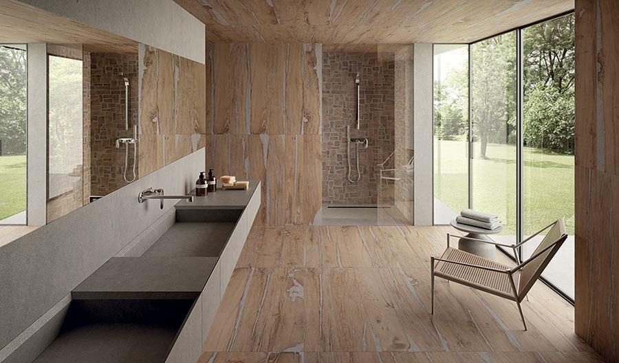 Idee bagno marrone moderno 05