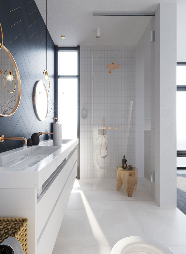 Arredare bagno in stile nordico n.01