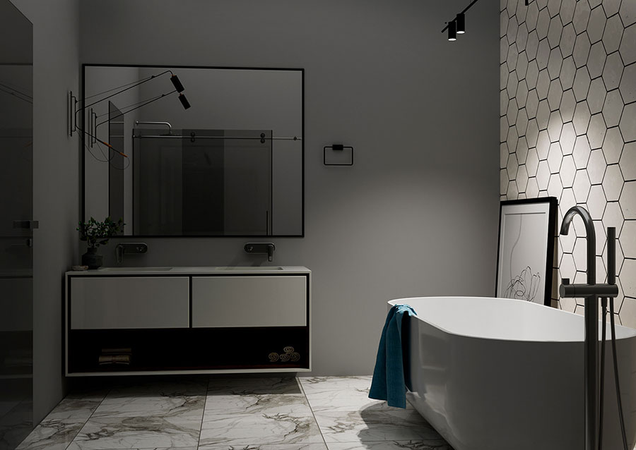 Arredare bagno in stile nordico n.23