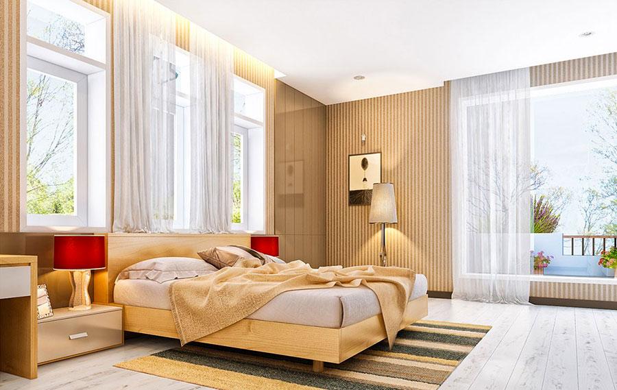Idee per arredare una camera da letto marrone n.04