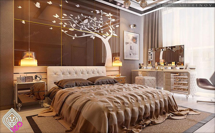 Idee per arredare una camera da letto beige e marrone n.02