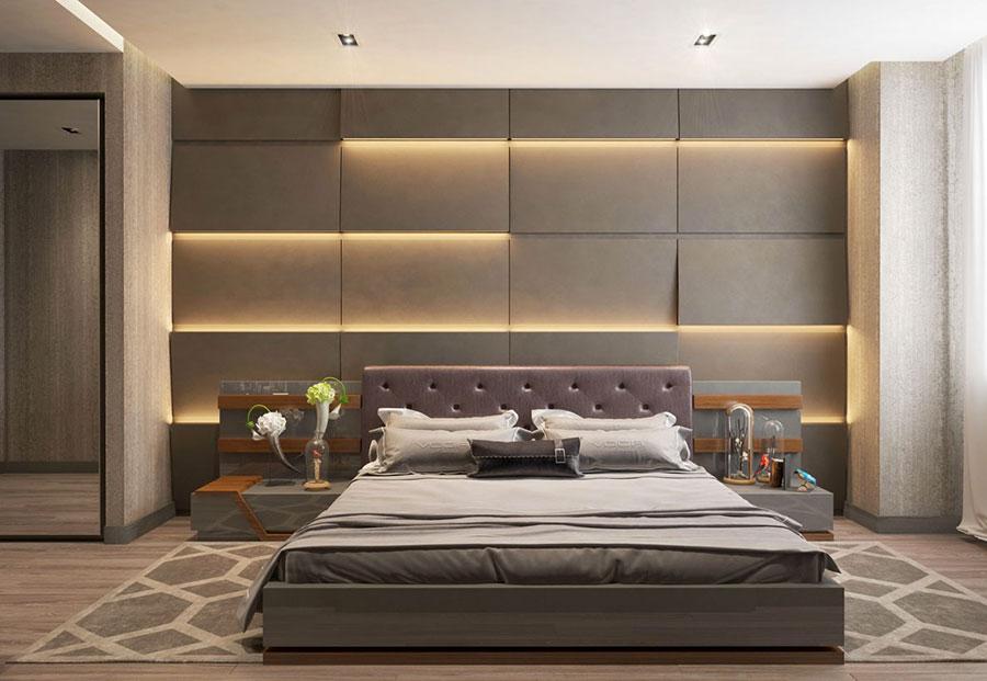 Idee per arredare una camera da letto marrone n.10