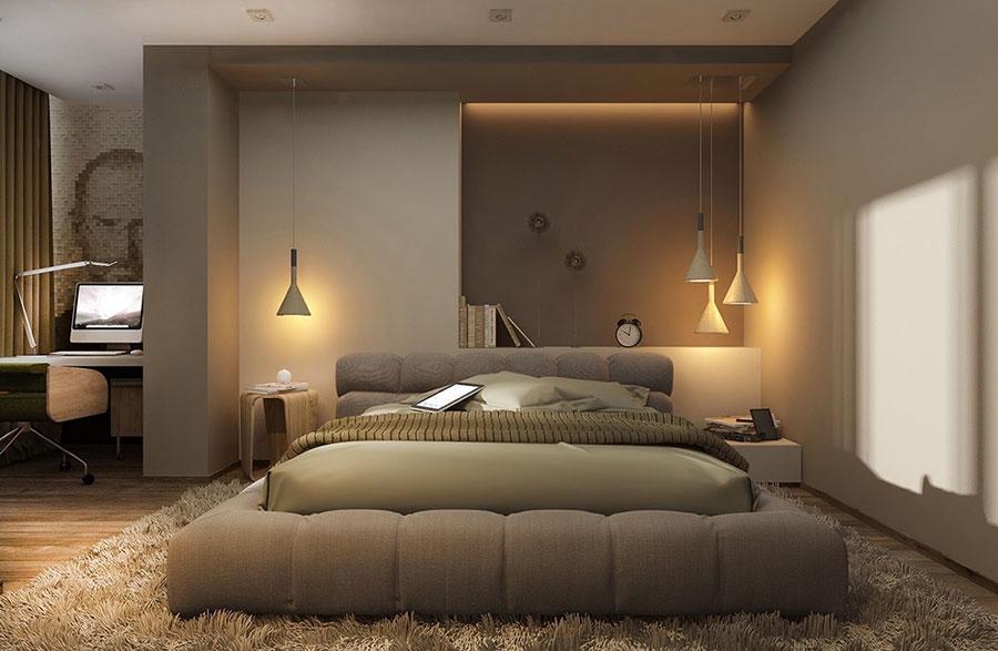 Idee per arredare una camera da letto beige e tortora n.01